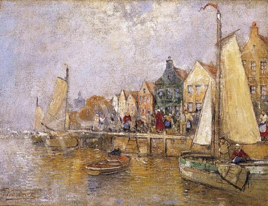 J. Wagner jelzéssel, 1900 körül - Kikötőben | 5. Aukció aukció / 8 tétel