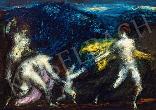 Vaszary János - Vénusz, szerelem (Ámor nimfákkal), 1920 körül festménye
