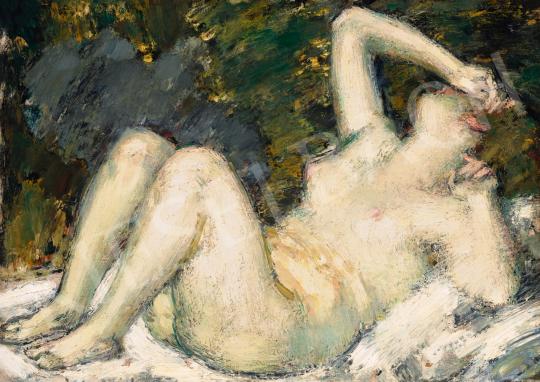 Vaszary János - Fekvő akt (Ébredés), 1920 körül festménye