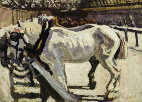 Eladó  Scheiber Hugó - Lovak, 1910-es évek közepe festménye