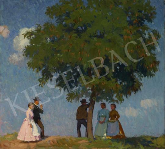 Nyilasy Sándor - Árnyas fa, 1920 körül festménye
