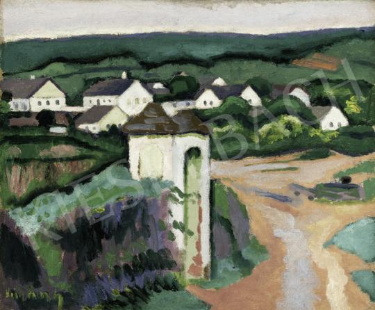 Czigány Dezső - Tájkép (Mária-ház, Falu), 1908 körül festménye