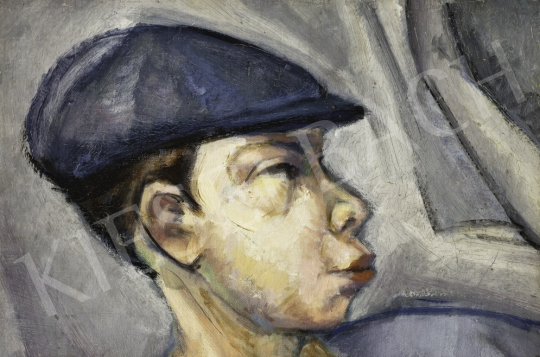 Tihanyi Lajos - Fiú sapkával, 1910 körül festménye