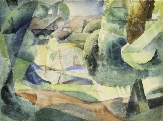 Szobotka Imre - Tájkép, 1910-es évek közepe festménye
