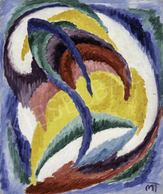 Mattis Teutsch János - Kompozíció sárga alapon, 1922-23 festménye