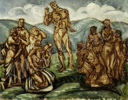 Pór Bertalan - Hegyibeszéd, 1911 festménye