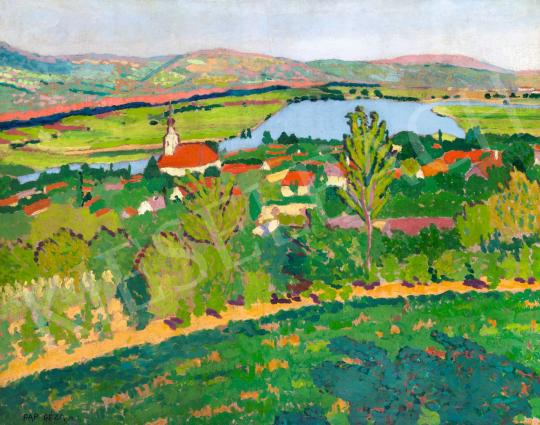 Pap Géza - Dunakanyar (Dunabogdány), 1908 festménye