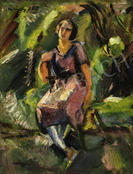 Márffy Ödön - Lány zöldben, 1921 festménye