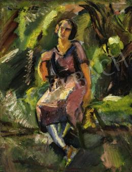 Márffy Ödön - Lány zöldben, 1921
