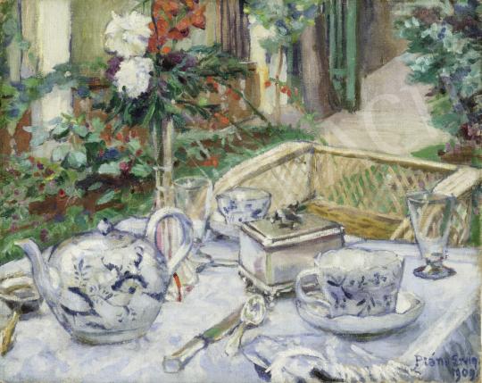 Plány Ervin - Petit-déjeuner, 1909 festménye