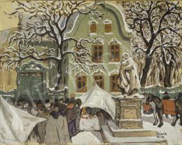 Kádár Béla - Téli vásár, 1910-es évek