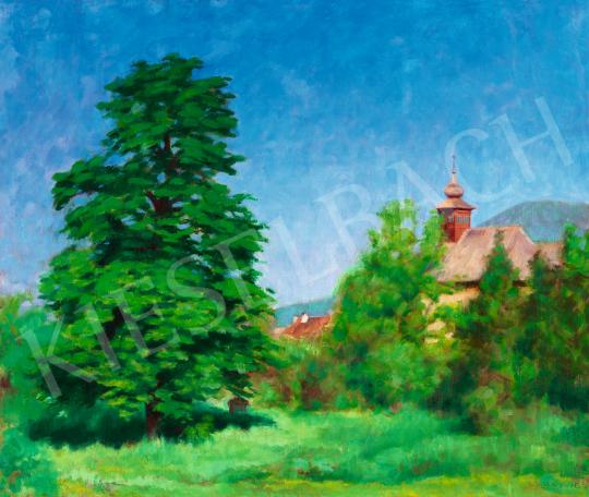 Tagyosi Rátz Péter - Nagybánya (Kék ég) festménye