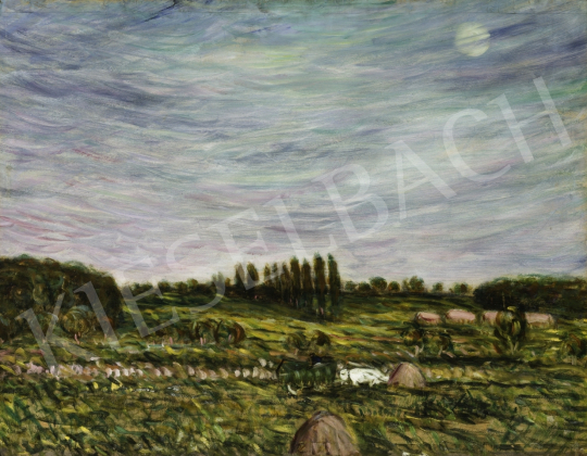 Egry József - Kék ég alatt (Hommage á Vincent van Gogh), 1910-es évek első fele festménye