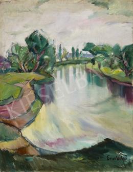 Erdélyi Béla - Ung folyó (Ungvár), 1929