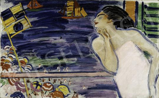 Vaszary János - Itáliai emlék (Riviéra), 1930 festménye