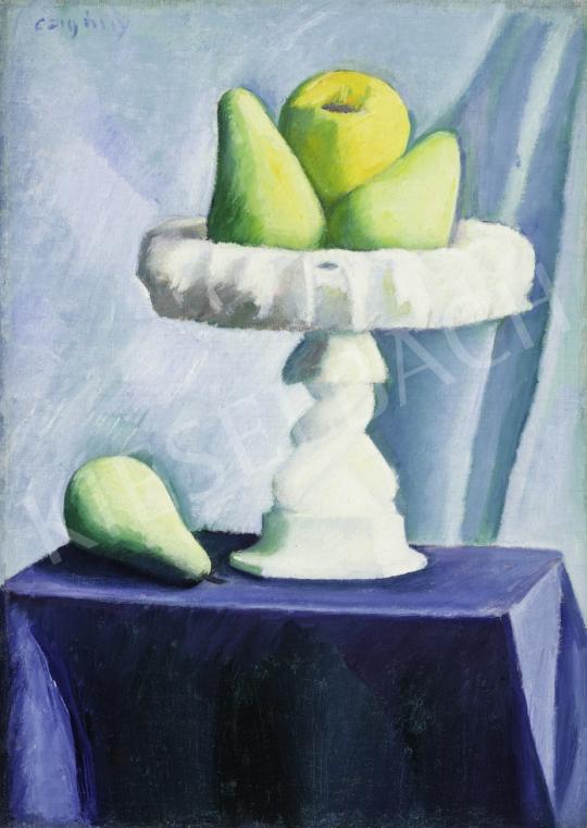 Czigány Dezső - Körtés csendélet, 1927 körül festménye