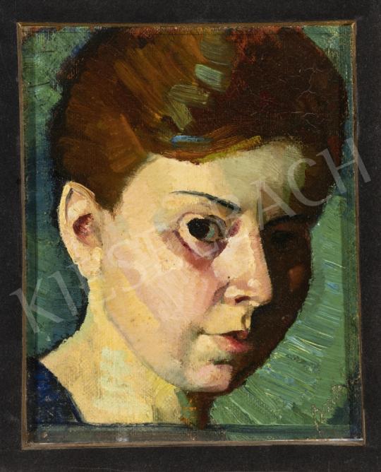 Bartók Mária - Önarckép, 1920-as évek festménye