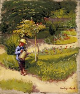 Korányi Sarolta - Kertészkedő fiúcska