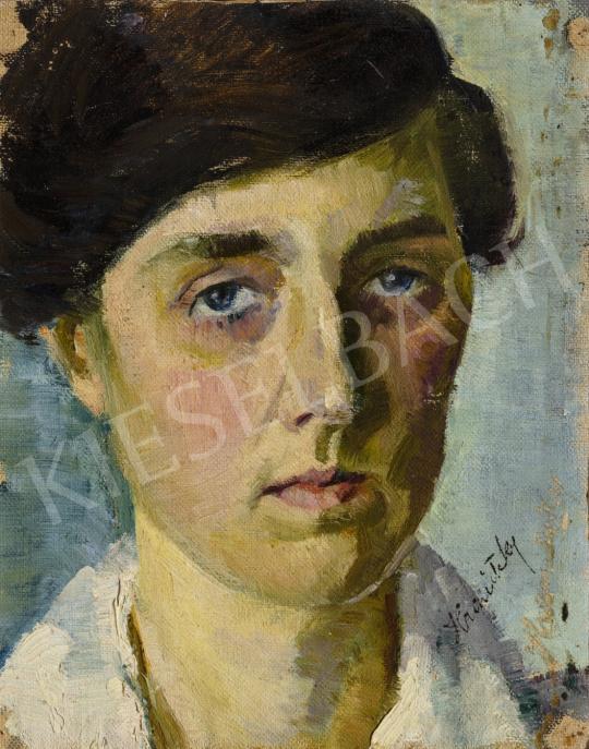 Hranitzky Ilona - Önarckép, 1920-as évek festménye
