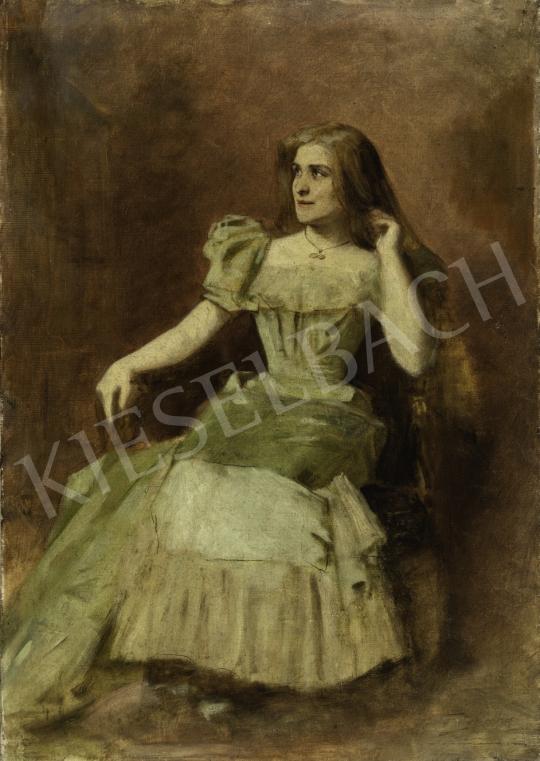 Ferraris Artúr - Márkus Emília színésznő portréja, 1885 festménye