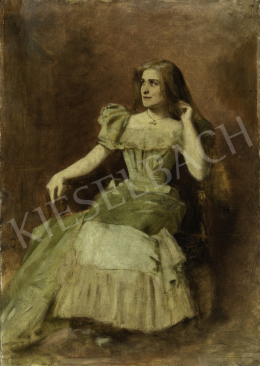 Ferraris, Artúr (Szabó-Ferraris Artúr) - Actress Emilia Márkus's Portrait, 1885
