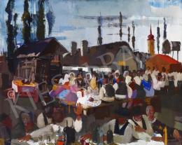 Aba-Novák, Vilmos - Market in Szolnok, 1930