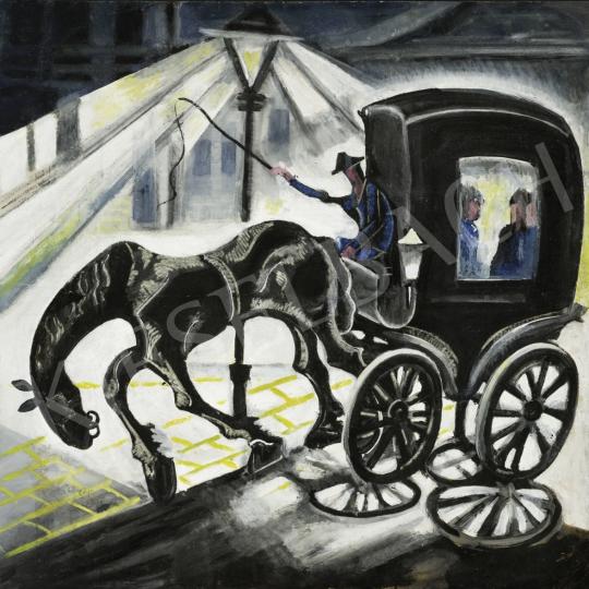 Eladó  Scheiber Hugó - Nagyváros konflissal, 1930-as évek festménye