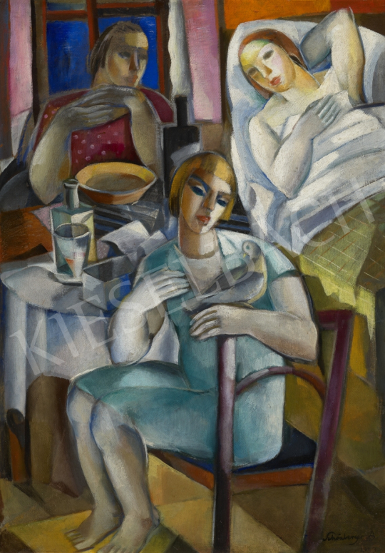 Schönberger Armand - Család (Látogatás), 1933 festménye
