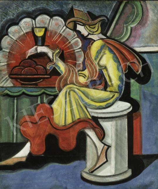 Eladó  Scheiber Hugó - Bárban, 1930-as évek festménye