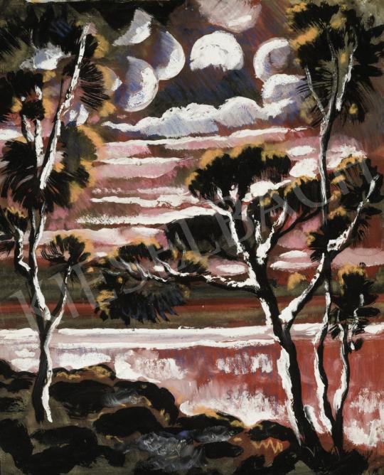 Scheiber Hugó - Különleges fények, 1930-as évek festménye