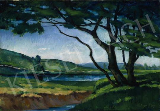 Szőnyi István - Vízpart Nagybányán, 1917 festménye