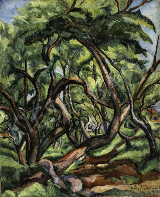 Perlrott Csaba Vilmos - Nagybányai fák, 1924 festménye
