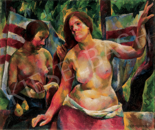 Aba-Novák Vilmos - Fésülködés, 1925 festménye