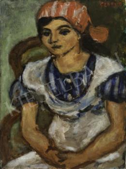 Czóbel Béla - Piroskendős lány, 1934