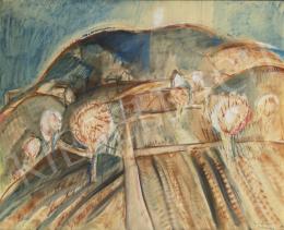 Egry József - Virágzó mandulafák (Badacsony), 1931