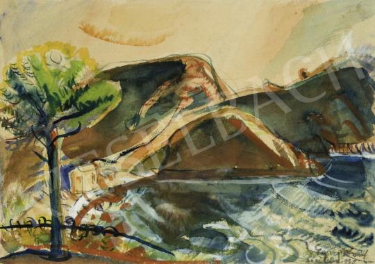 Egry József - Isola Bella,(Olaszország, Szicília), 1930 festménye