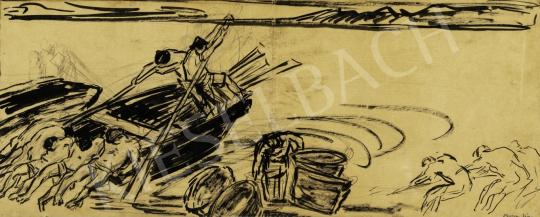 Vaszary János - Balatoni halászok, 1926 körül festménye