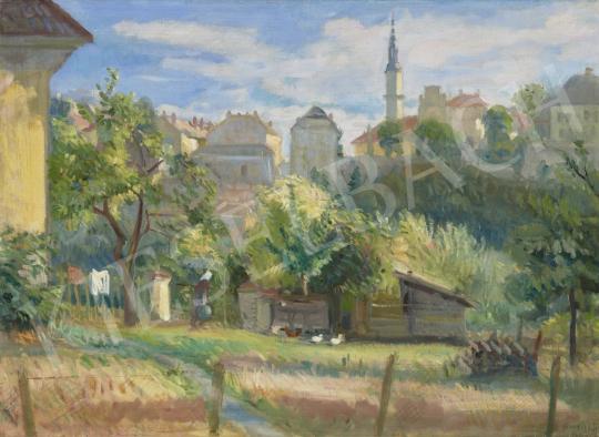 Eladó  Boldizsár István - Veszprém látképe festménye