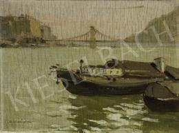 Csallóközi Farkas Lőrinc - Budapest, Dunai látkép háttérben a Gellértheggyel, 190 körül