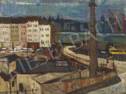 Szentgyörgyi Kornél - Új Erzsébet híd (Szocializmus, Dunapart), 1963