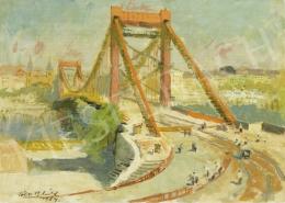 Tóth B. László - Az új Erzsébet-híd építése (Mínium, szocializmus, felhajtó-lehajtó), 1964
