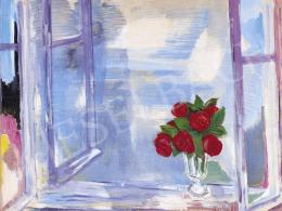 Bartha, László - Roses on the Window Sill