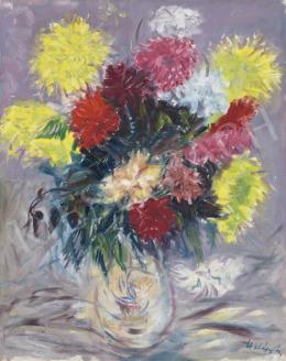 Halápy János - Nagy virágcsendélet (Impresszionista csendélet)