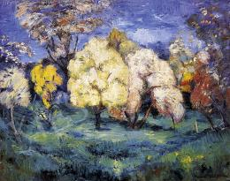 Iványi Grünwald Béla - Virágzó fák