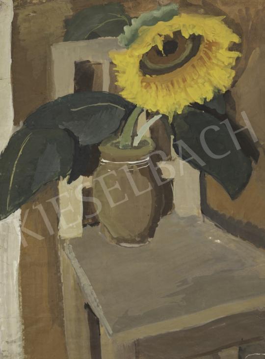 Törzs Éva - Napraforgós csendélet, 1940 körül festménye
