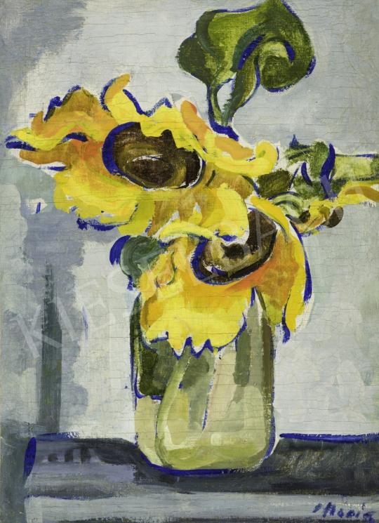 Móricz Margit - Napraforgó vázában, 1930-as évek festménye