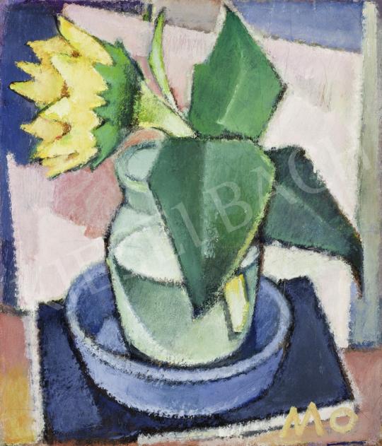 Mohy Sándor - Napraforgós csendélet műteremben festménye