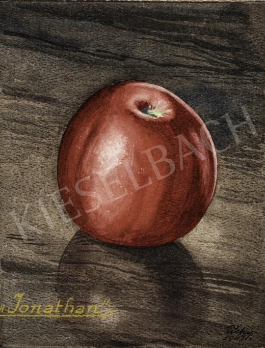 Tichy Kálmán - Piros alma, 1947 festménye