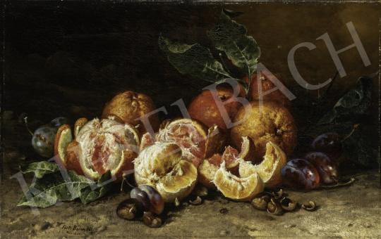 Böhm Pál - Narancsos csendélet festménye