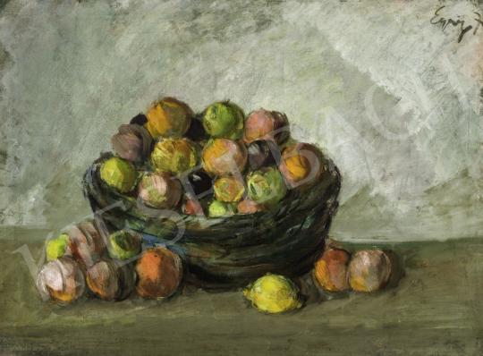 Egry József - Gyümölcskosár, 1915 festménye